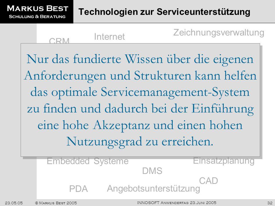 Technologien zur Serviceunterstützung