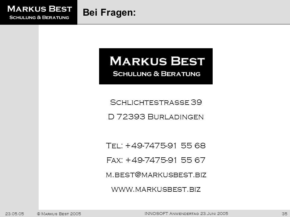Markus Best Bei Fragen: Schlichtestrasse 39 D 72393 Burladingen