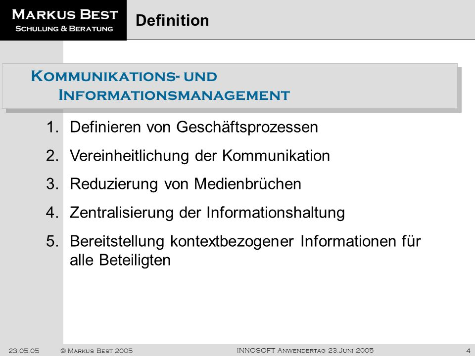 Kommunikations- und Informationsmanagement