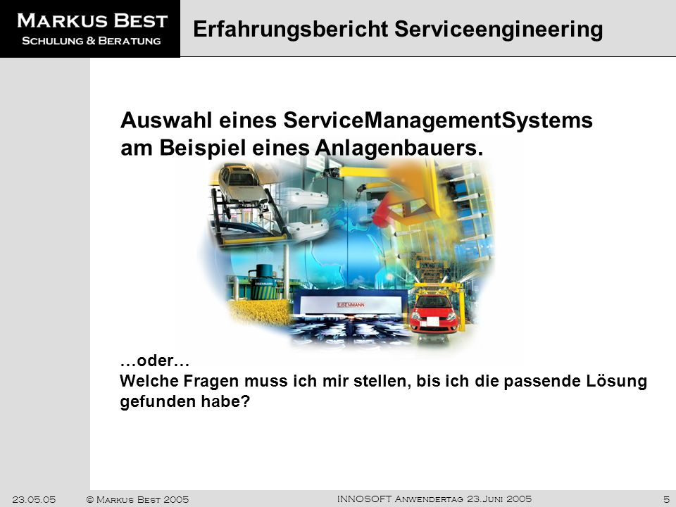 Erfahrungsbericht Serviceengineering
