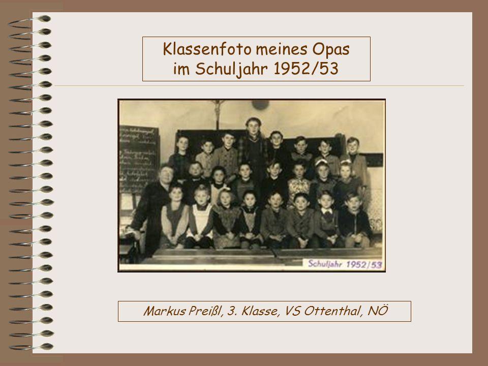 Klassenfoto meines Opas im Schuljahr 1952/53