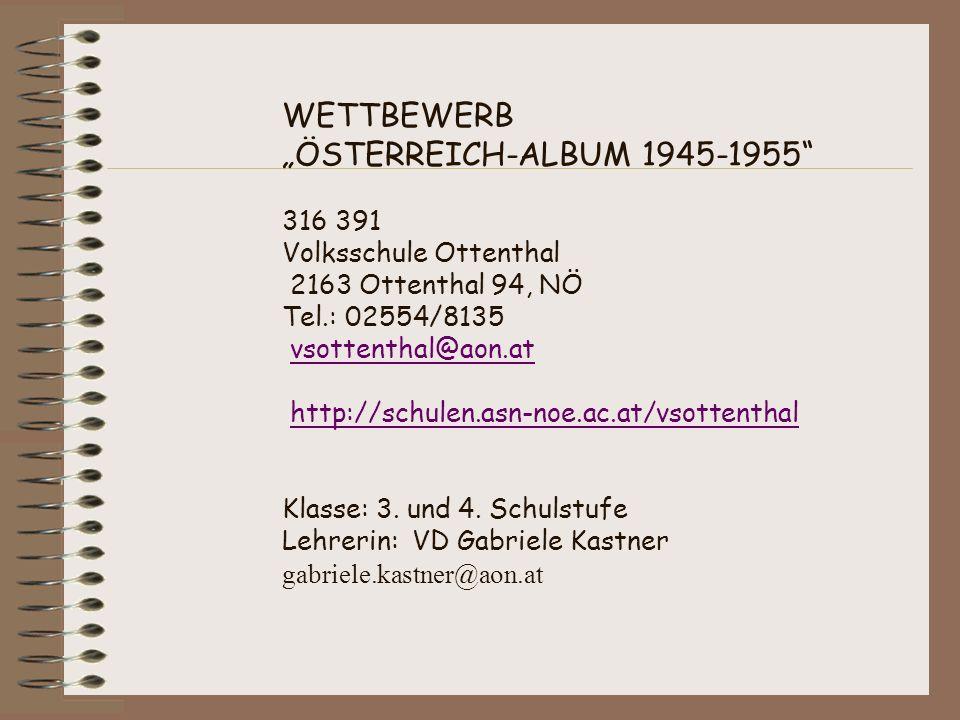 """WETTBEWERB """"ÖSTERREICH-ALBUM 1945-1955"""