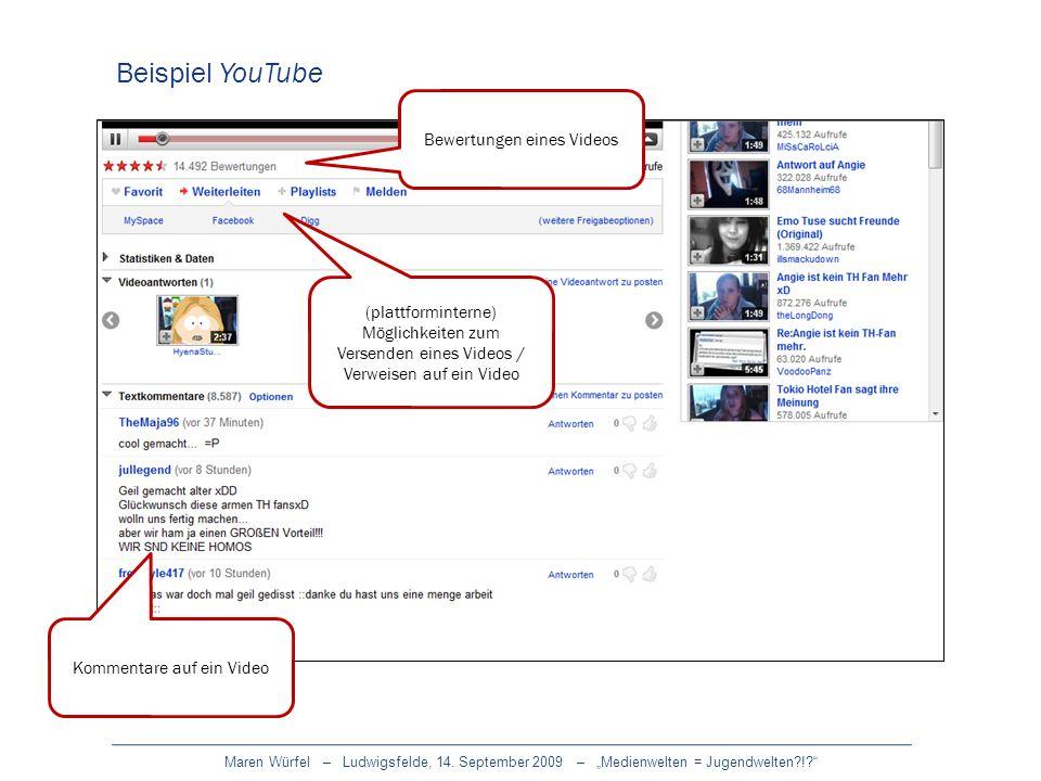 Beispiel YouTube Bewertungen eines Videos