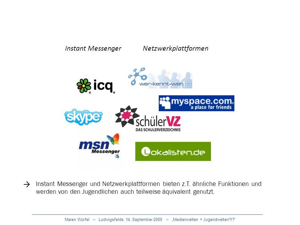 Instant Messenger Netzwerkplattformen 