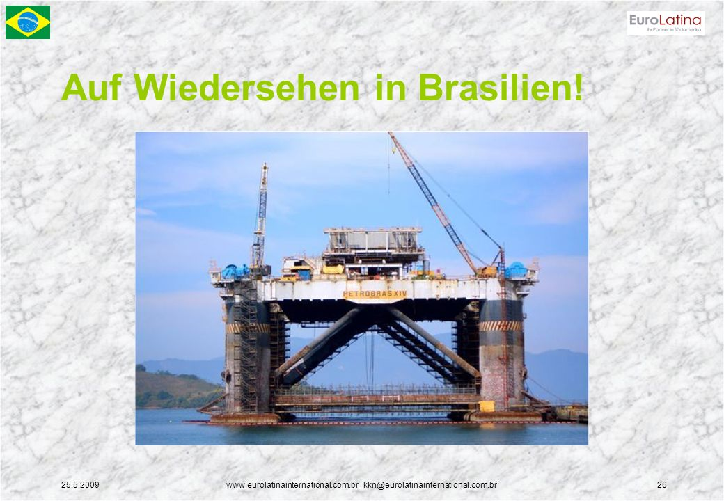 Auf Wiedersehen in Brasilien!