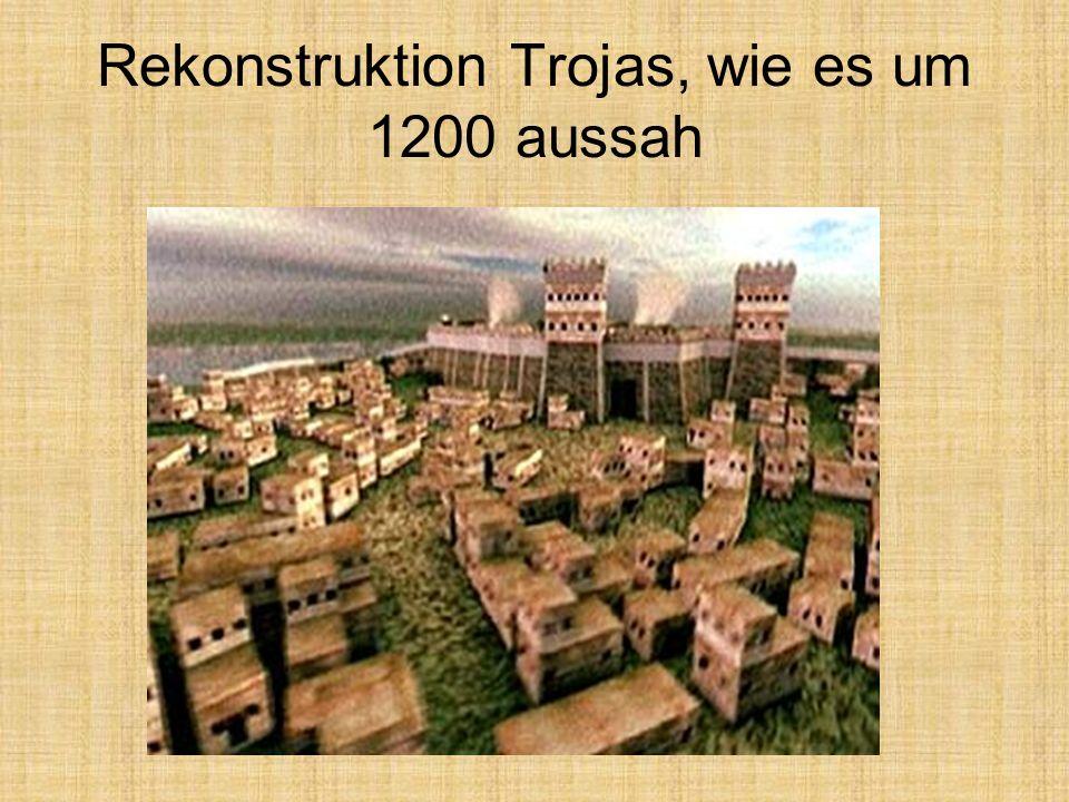 Rekonstruktion Trojas, wie es um 1200 aussah