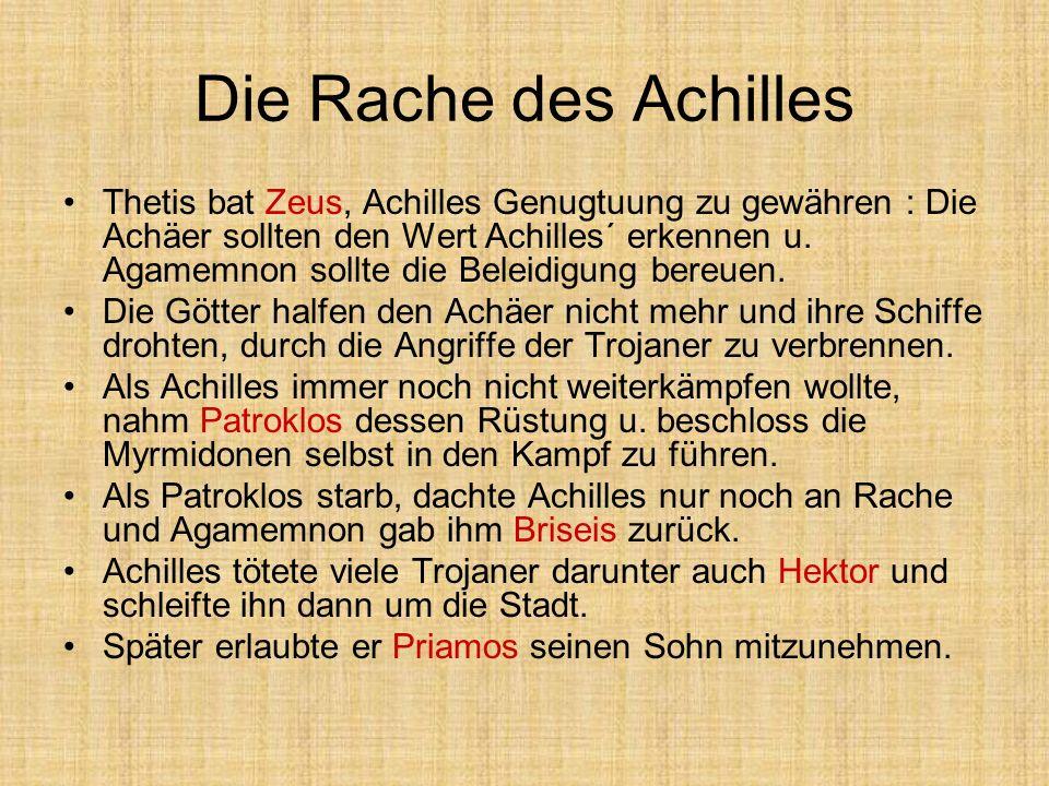 Die Rache des Achilles