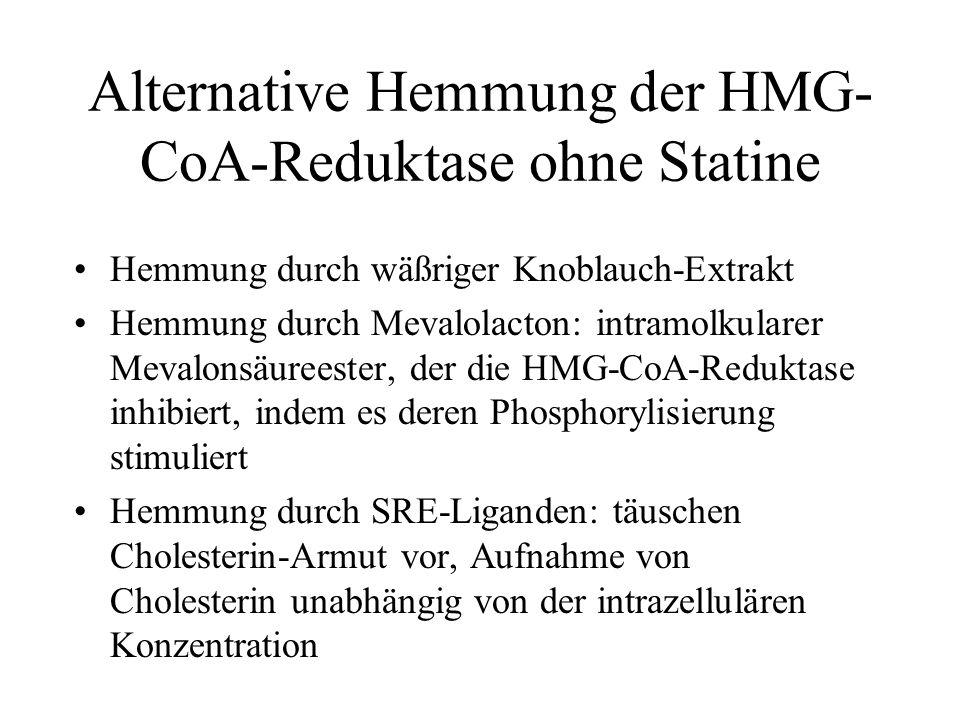 Alternative Hemmung der HMG-CoA-Reduktase ohne Statine