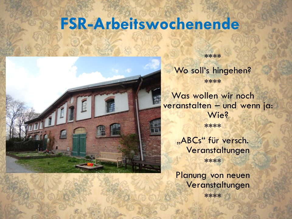 FSR-Arbeitswochenende