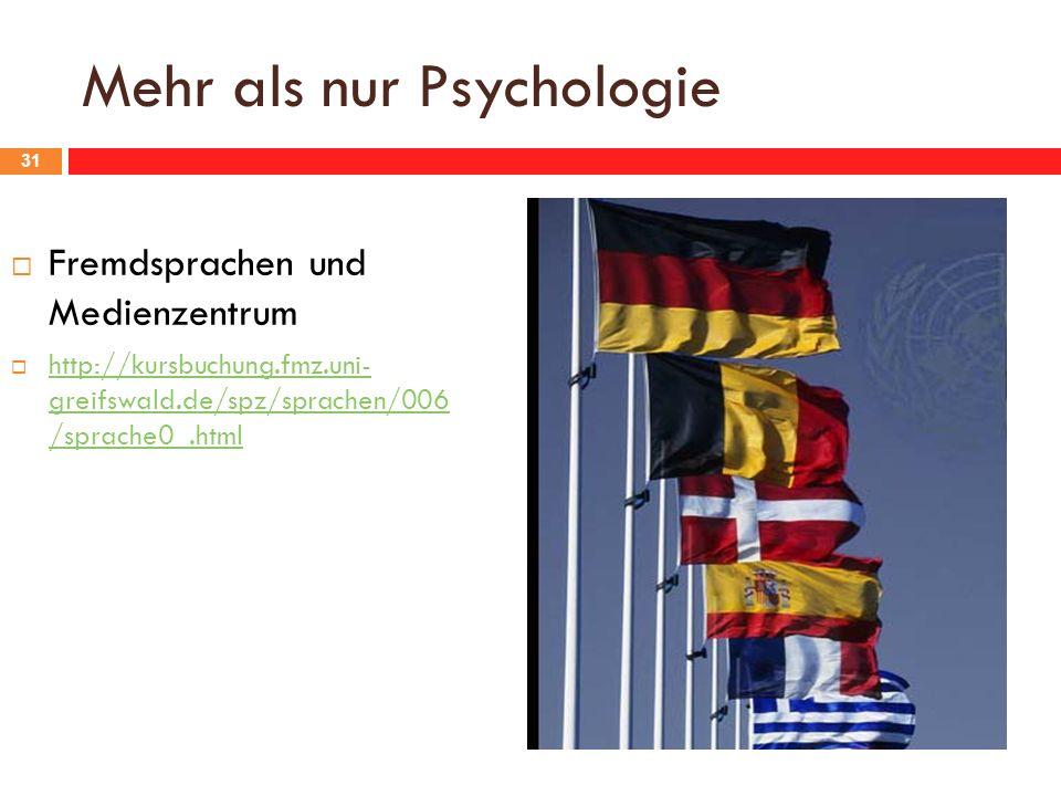 Mehr als nur Psychologie