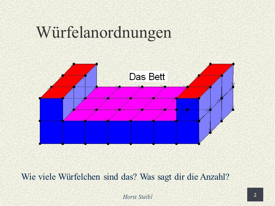 Würfelanordnungen Wie viele Würfelchen sind das Was sagt dir die Anzahl Horst Steibl