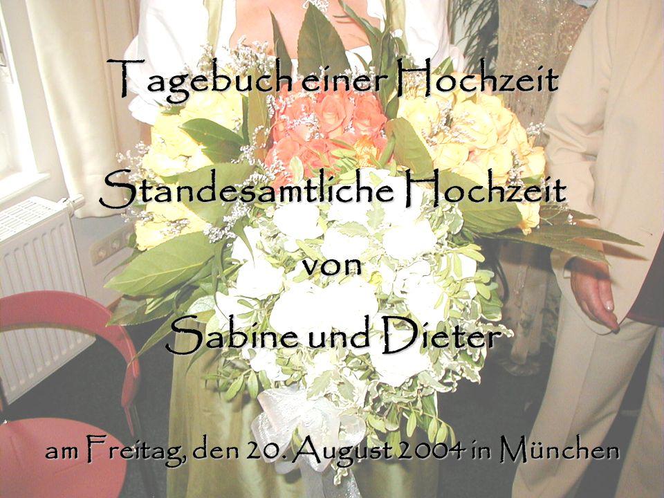 Tagebuch einer Hochzeit Standesamtliche Hochzeit von Sabine und Dieter