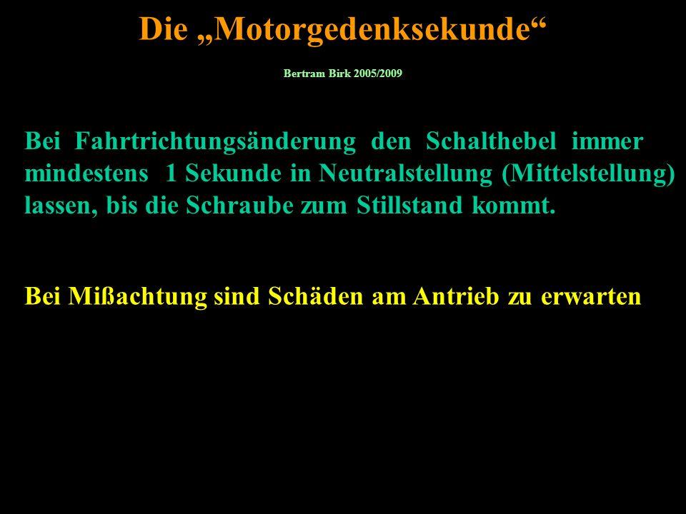 """Die """"Motorgedenksekunde"""