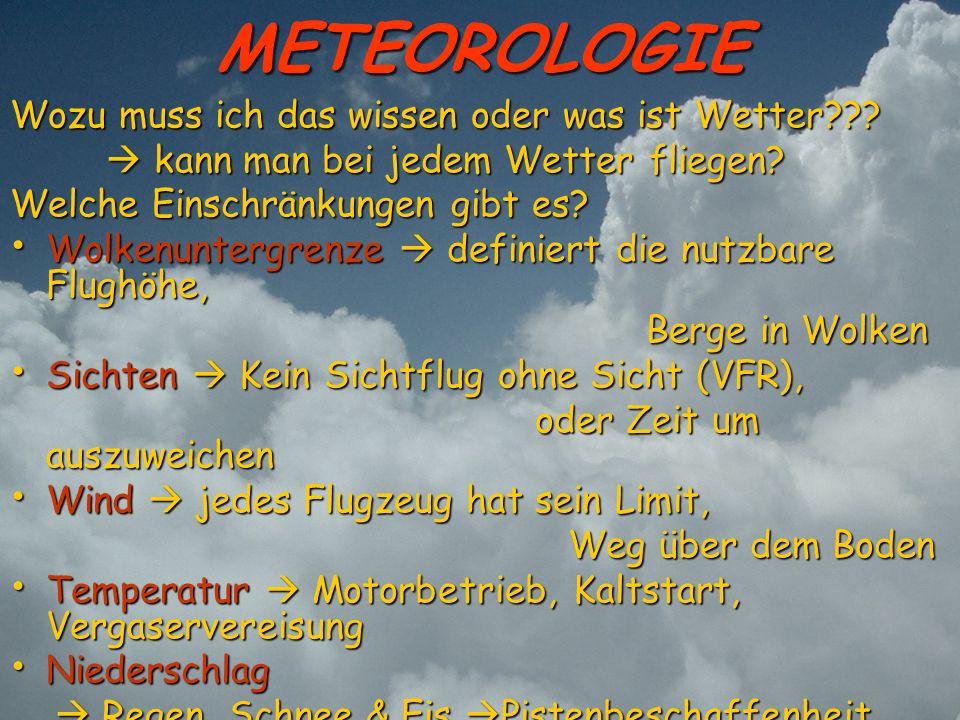 METEOROLOGIE Wozu muss ich das wissen oder was ist Wetter