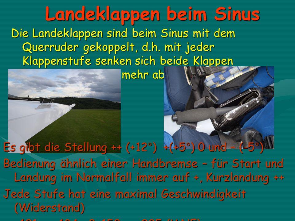 Landeklappen beim Sinus