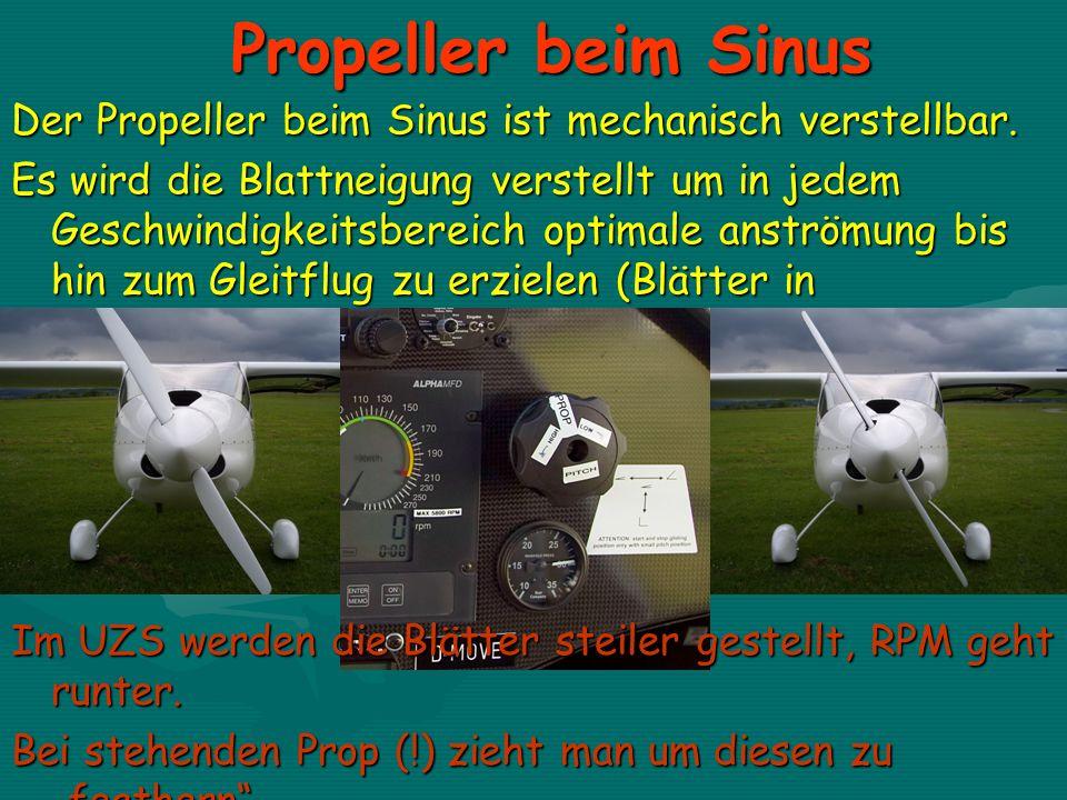 Propeller beim Sinus Der Propeller beim Sinus ist mechanisch verstellbar.