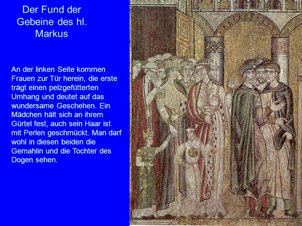 Der Fund der Gebeine des hl. Markus