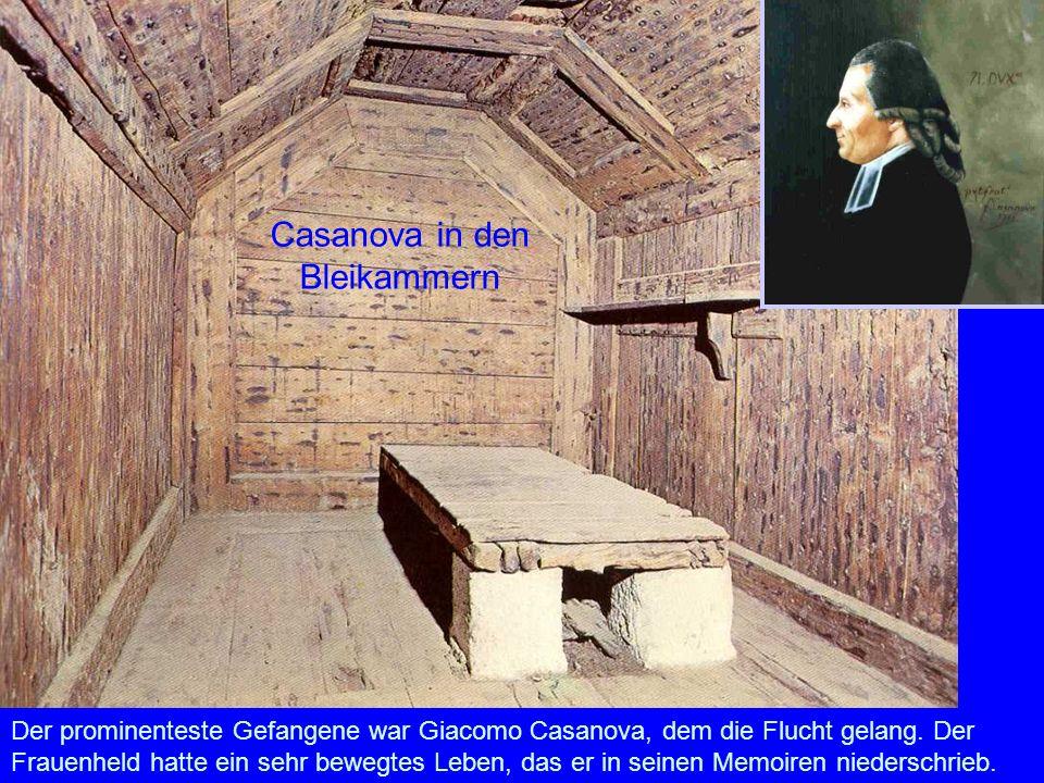 Casanova in den Bleikammern