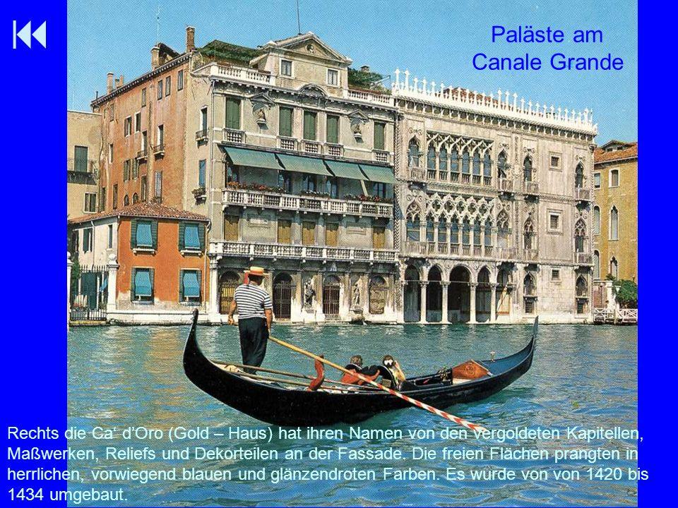 Paläste am Canale Grande