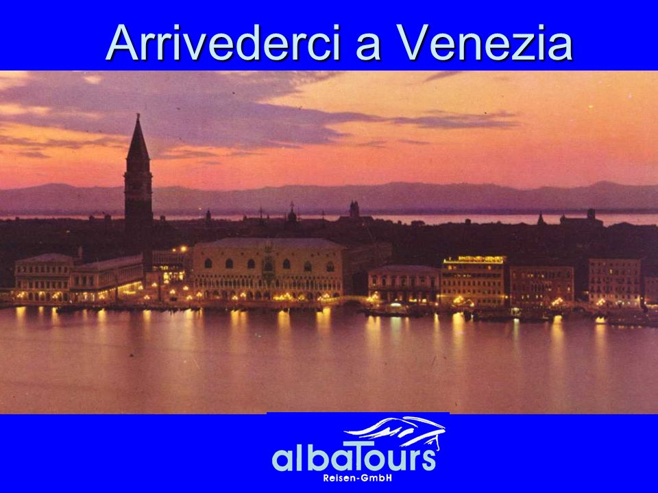Arrivederci a Venezia