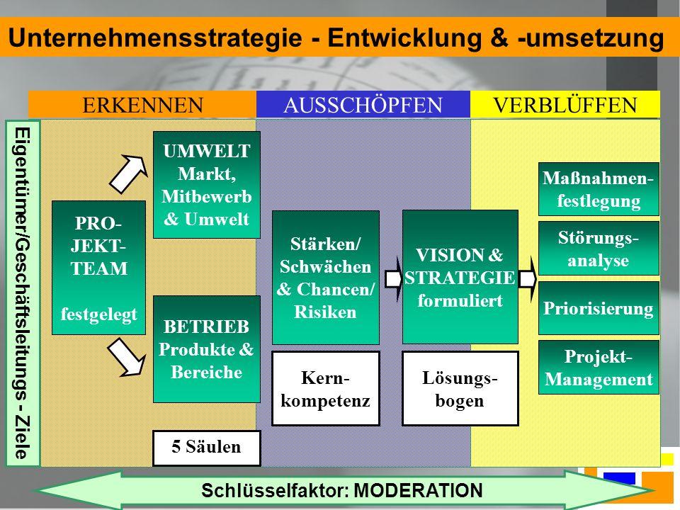 Unternehmensstrategie - Entwicklung & -umsetzung