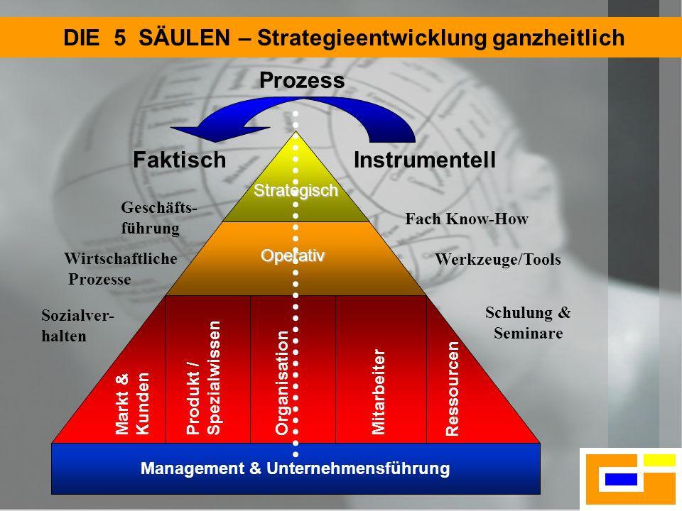 DIE 5 SÄULEN – Strategieentwicklung ganzheitlich