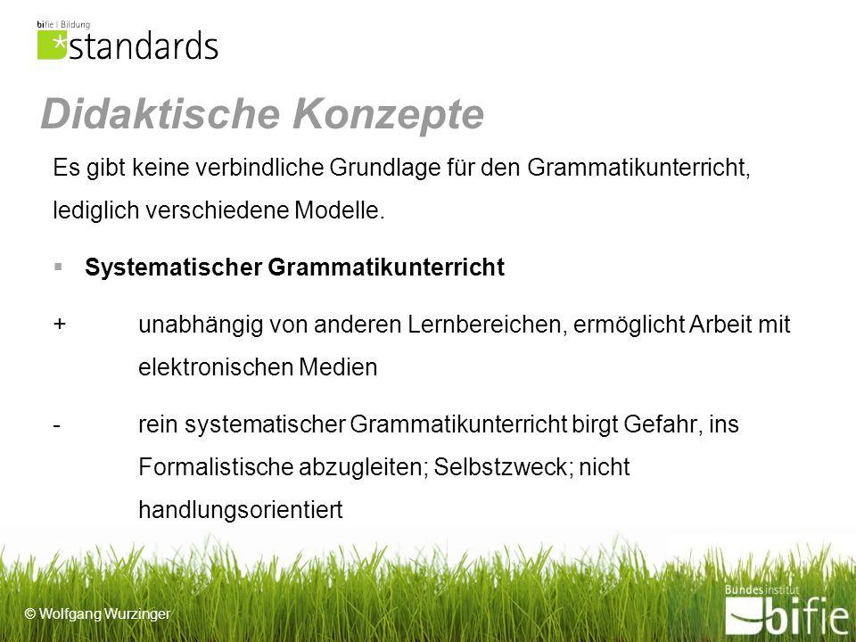 Didaktische Konzepte Es gibt keine verbindliche Grundlage für den Grammatikunterricht, lediglich verschiedene Modelle.
