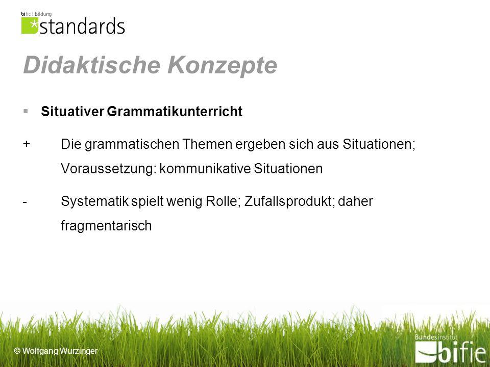 Didaktische Konzepte Situativer Grammatikunterricht