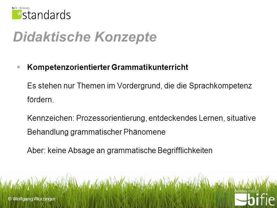 Didaktische Konzepte Kompetenzorientierter Grammatikunterricht
