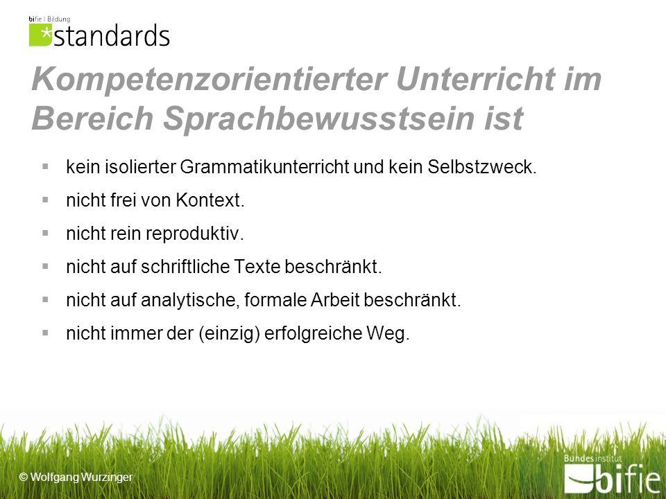 Kompetenzorientierter Unterricht im Bereich Sprachbewusstsein ist