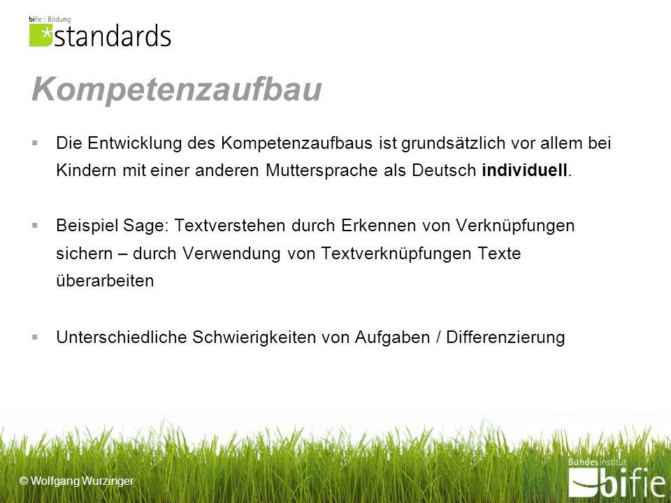 Kompetenzaufbau Die Entwicklung des Kompetenzaufbaus ist grundsätzlich vor allem bei Kindern mit einer anderen Muttersprache als Deutsch individuell.
