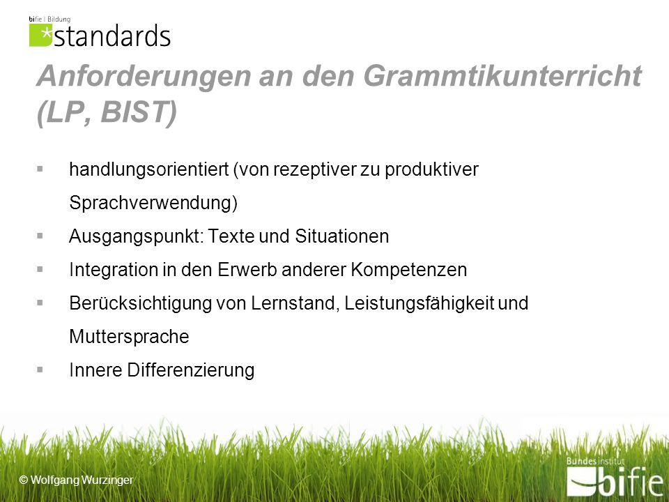 Anforderungen an den Grammtikunterricht (LP, BIST)