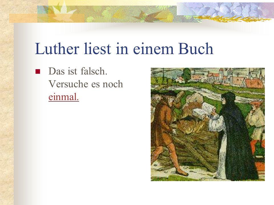 Luther liest in einem Buch