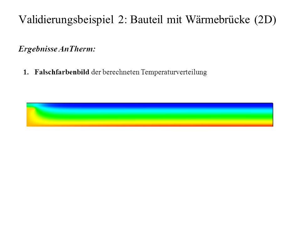 Validierungsbeispiel 2: Bauteil mit Wärmebrücke (2D)