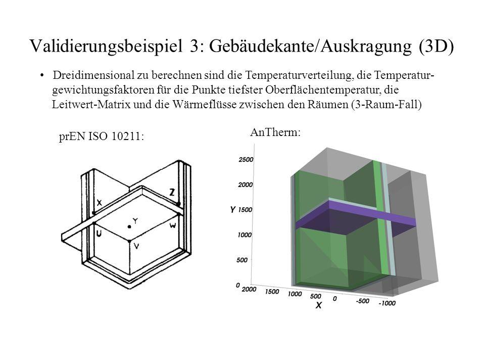 Validierungsbeispiel 3: Gebäudekante/Auskragung (3D)
