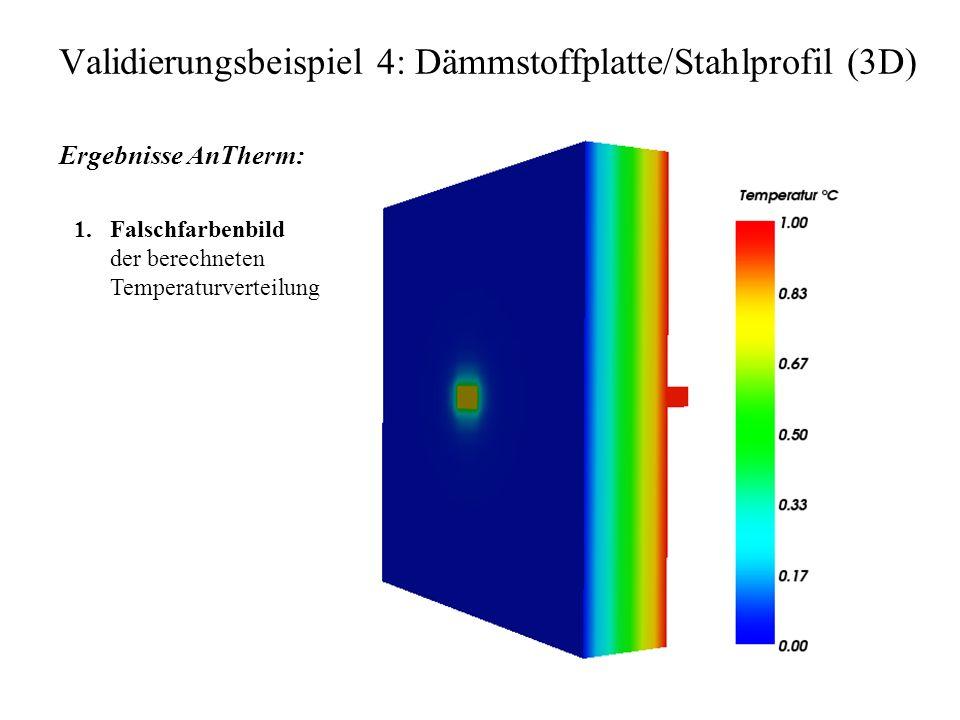 Validierungsbeispiel 4: Dämmstoffplatte/Stahlprofil (3D)