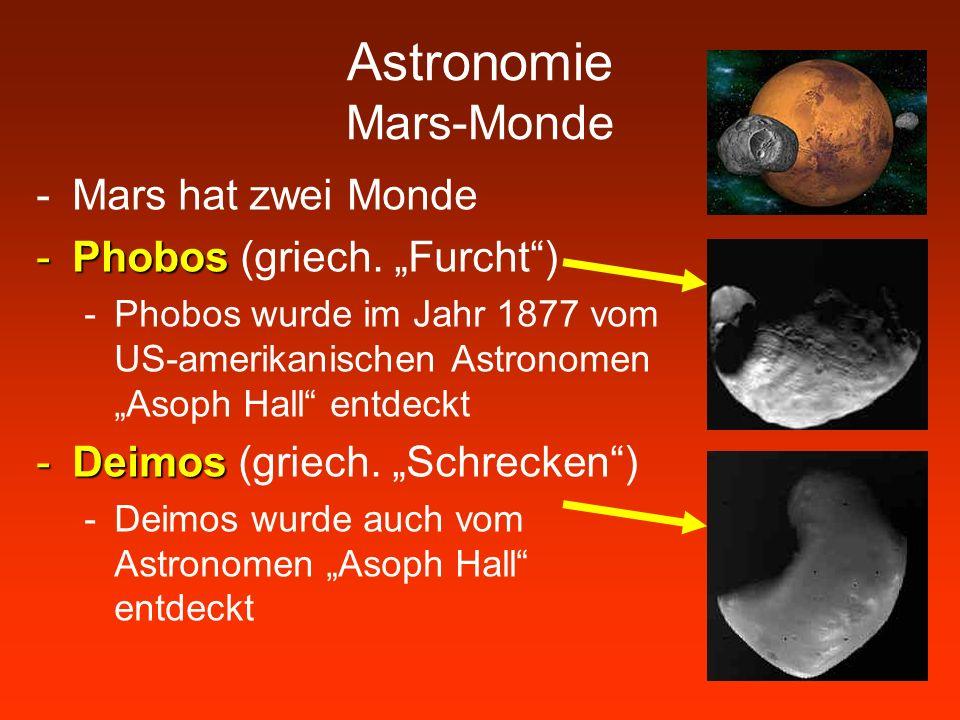 Astronomie Mars-Monde