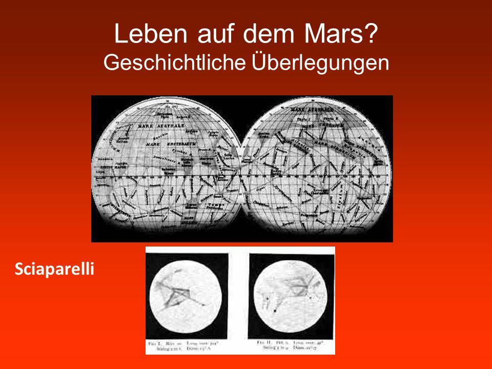 Leben auf dem Mars Geschichtliche Überlegungen