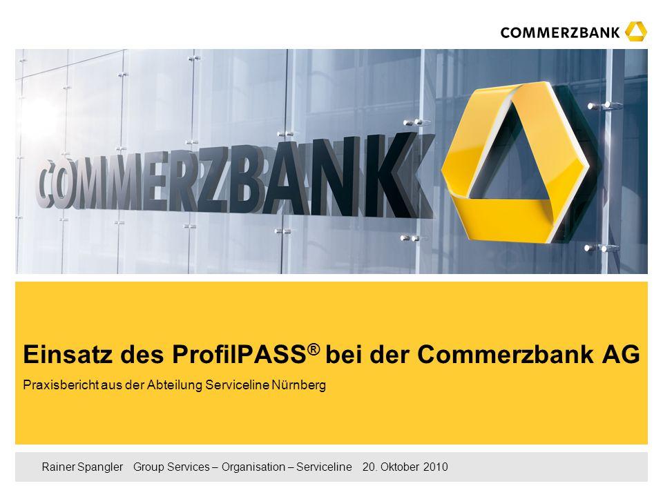 Einsatz des ProfilPASS® bei der Commerzbank AG