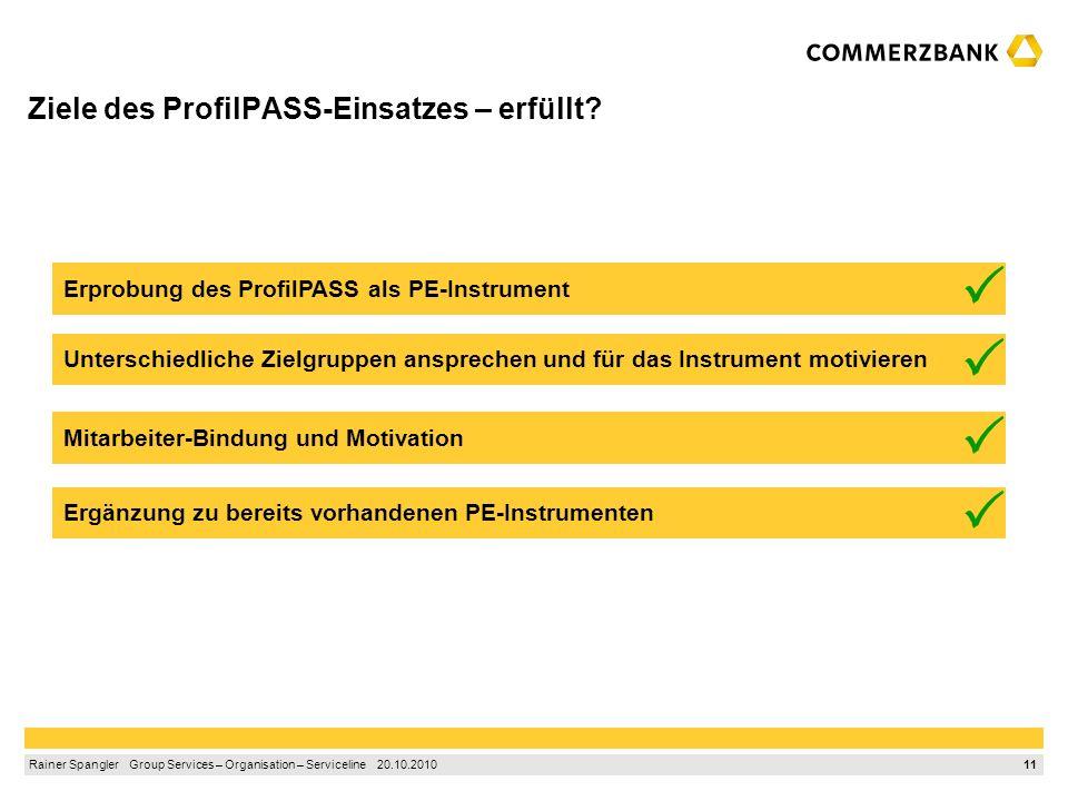 Ziele des ProfilPASS-Einsatzes – erfüllt