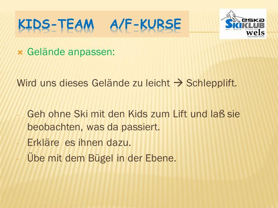 Kids-Team A/F-Kurse Gelände anpassen: