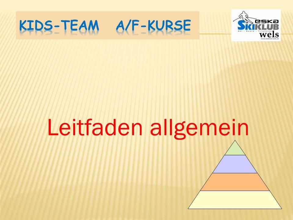 Kids-Team A/F-Kurse Leitfaden allgemein