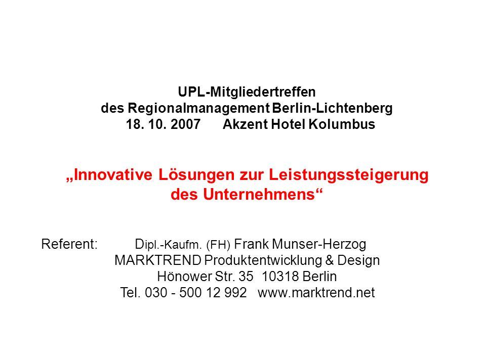"""""""Innovative Lösungen zur Leistungssteigerung des Unternehmens"""
