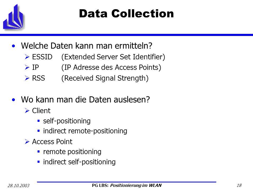 Data Collection Welche Daten kann man ermitteln