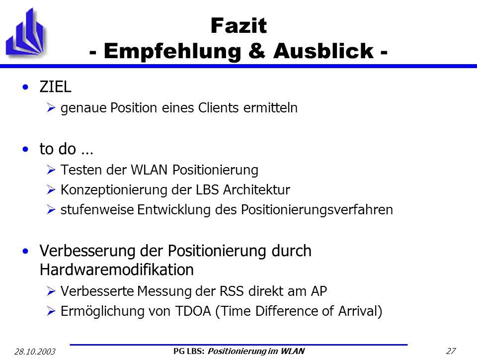 Fazit - Empfehlung & Ausblick -