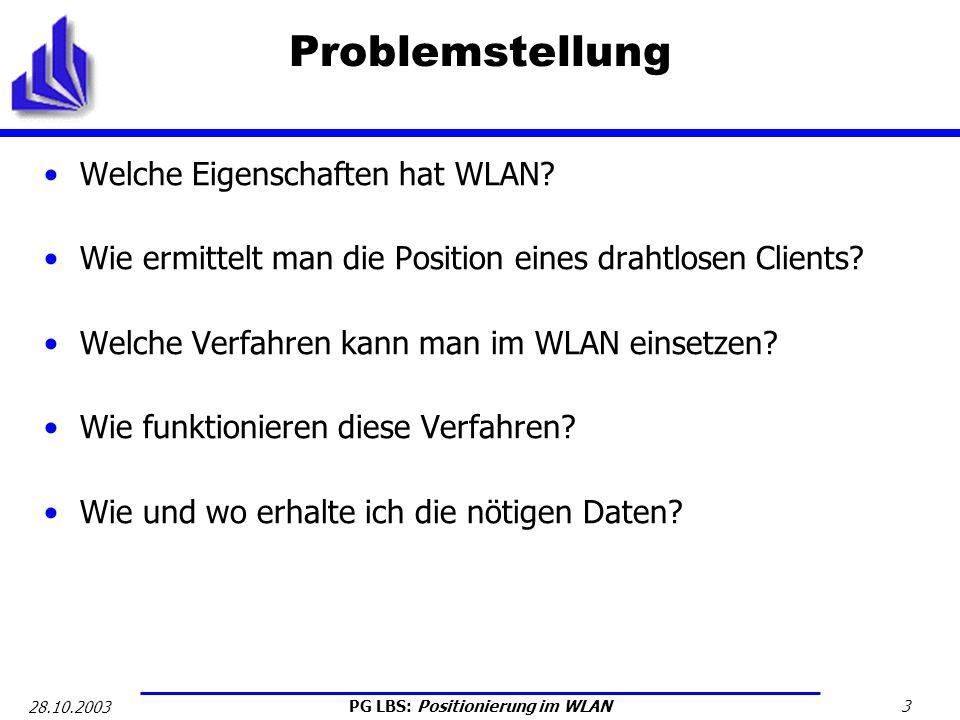 Problemstellung Welche Eigenschaften hat WLAN