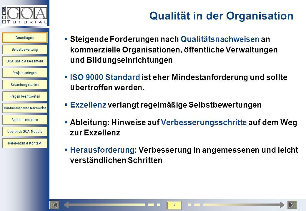 Qualität in der Organisation