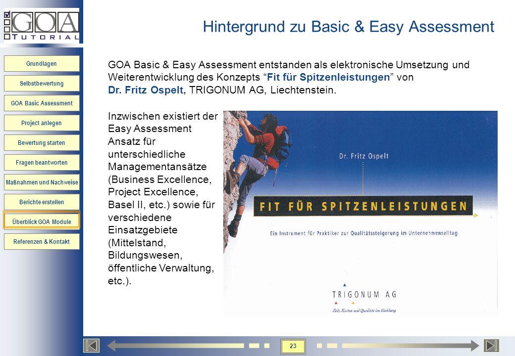 Hintergrund zu Basic & Easy Assessment
