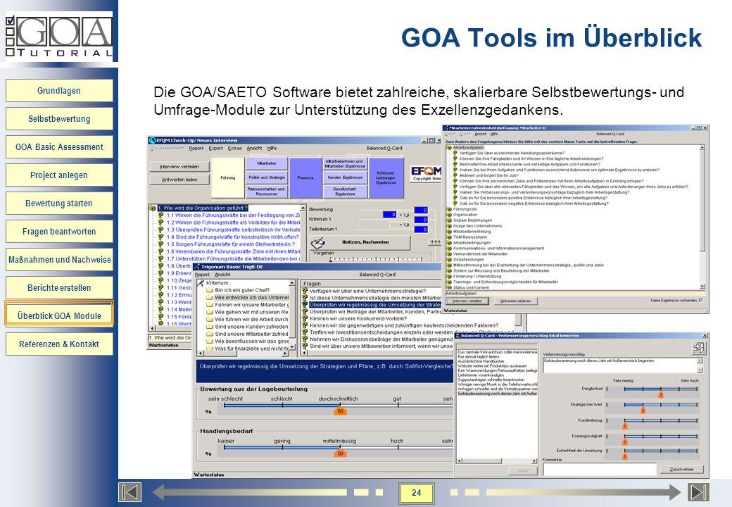 GOA Tools im Überblick
