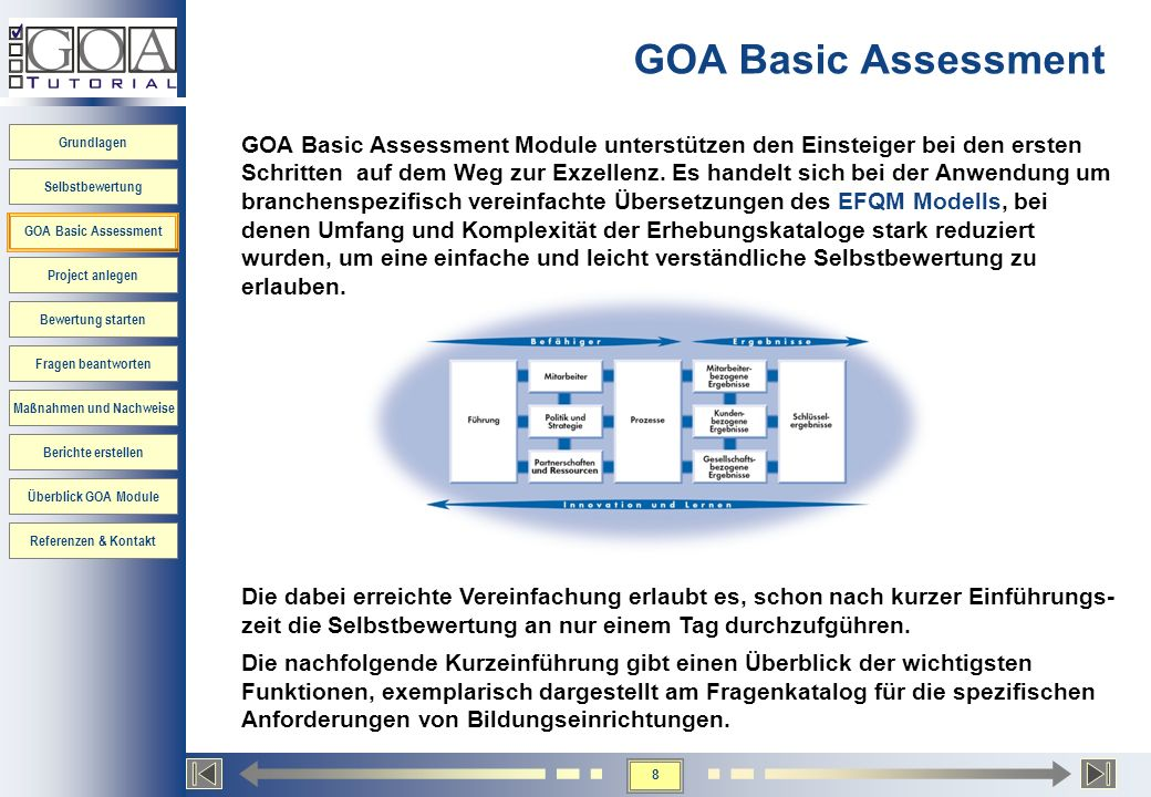 GOA Basic Assessment